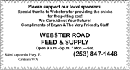 Webster Feed